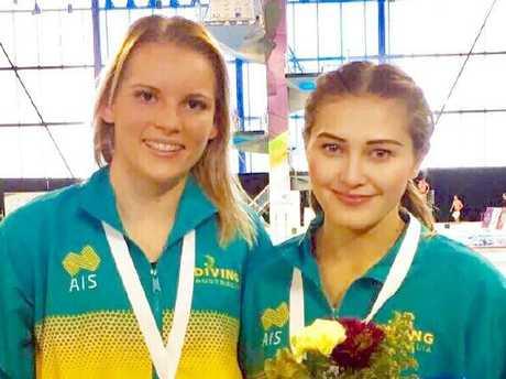 Wu and her former partner Taneka Kovchenko.