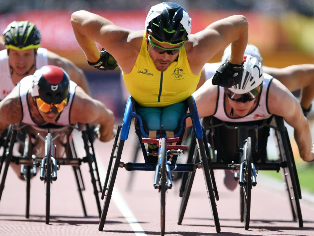 Kurt Fearnley has long been the poster boy  for Australian disability sport. Picture: AAP Image/Dean Lewins