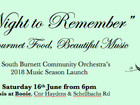 Enjoy gourmet food to the sound of beautiful music performed by the South Burnett Community Orchestra String Ensemble at SBCO's 2018 Music Season Launch