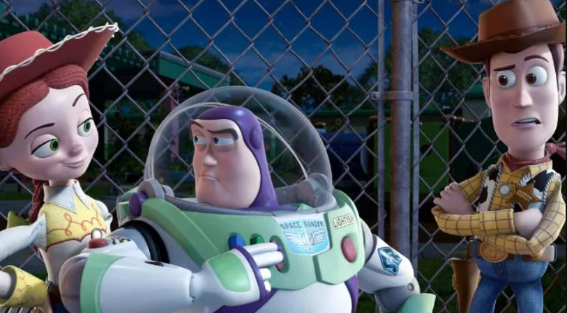 Jessie, Buzz and Woody in Toy Story 3.