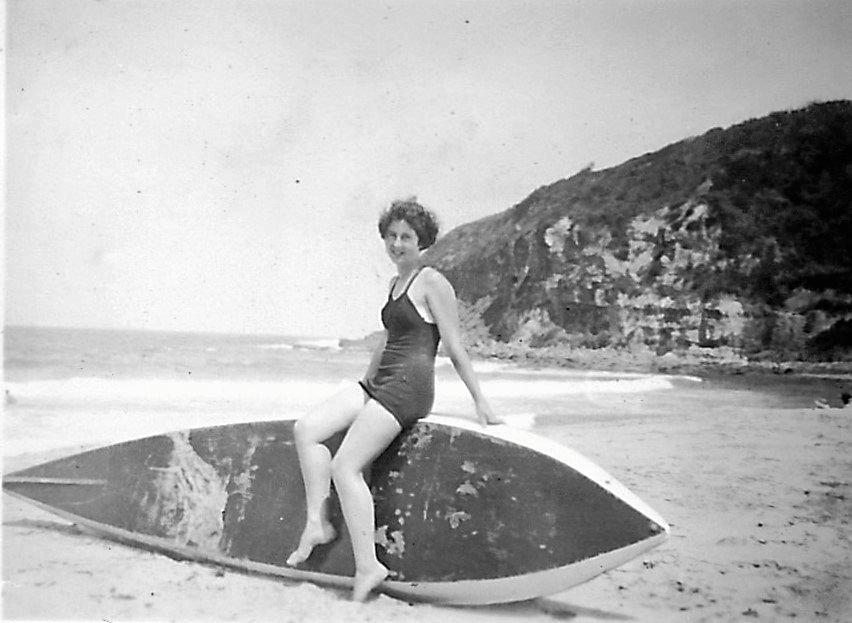 Jean Ellis enjoying time on the beach.