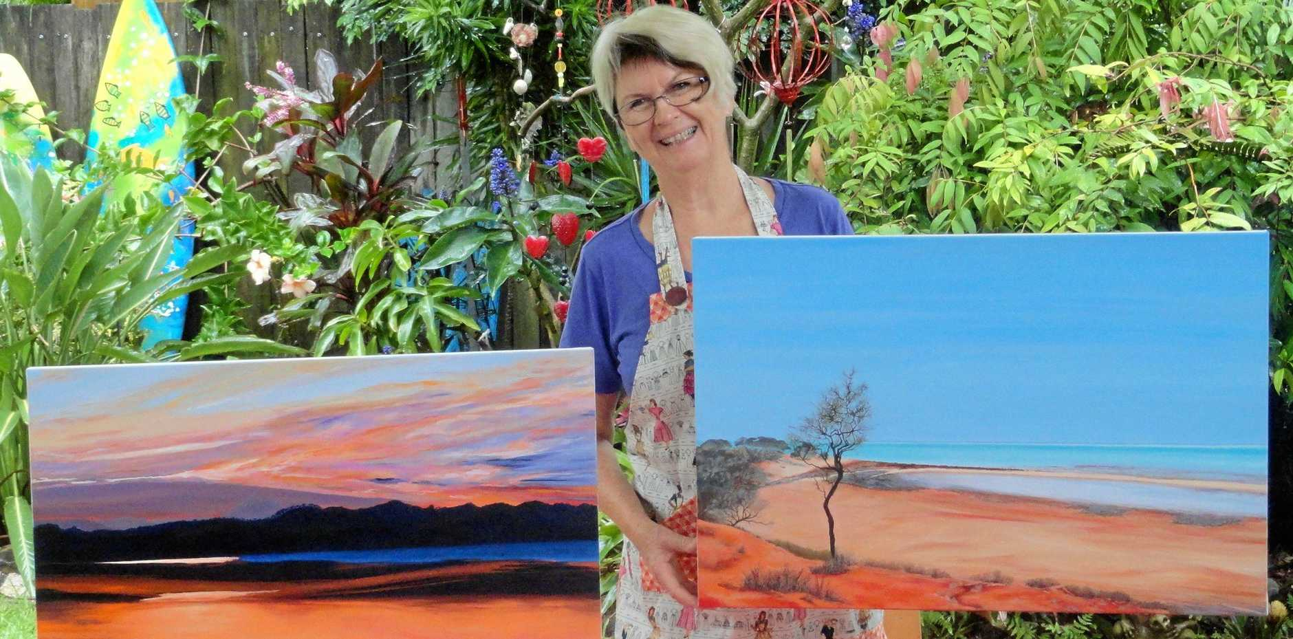 CRATIVE BLISS: Artist Suzi Bourke promotes the variety-packed Murwillumbah Art Trail for 2018.
