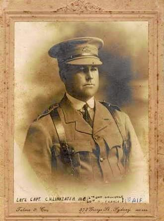 ANZAC: Judy's  grandfather Captain Charles Linklater is remembered at Menin Gate after he was declared missing on June 11, 1917.