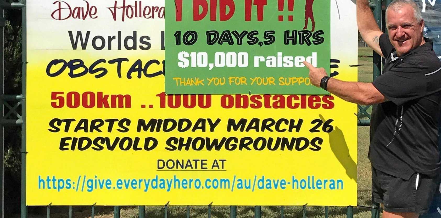 ACCOMPLISHED: David Holleran has raised more than $10,000 for the LifeFlight organisation.