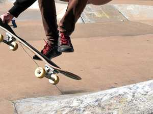 Teen hospitalised after skate park fall