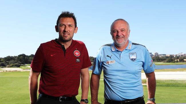 Tony Popovic (left) has revealed he wasn't contacted in regard to the Socceroos job, which eventually went to Graham Arnold (right).