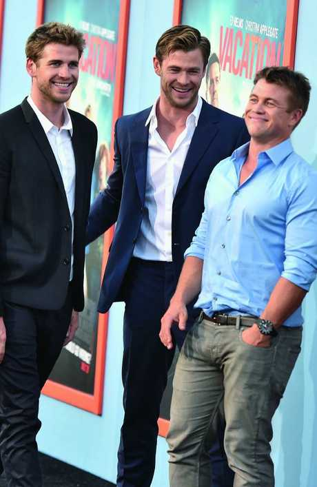 Excellent genes ... the three Hemsworth brothers.