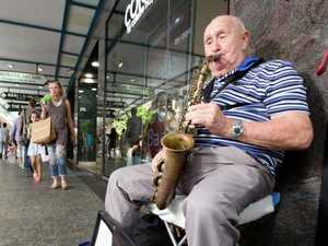 Milestone for blind busker
