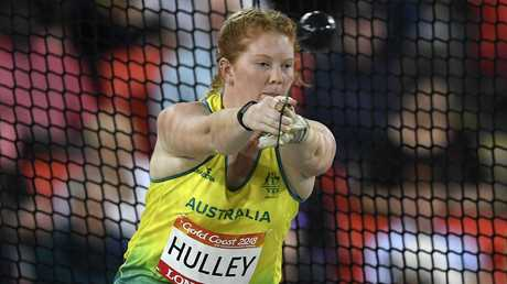 Alexandra Hulley won a silver medal in the hammer throw.