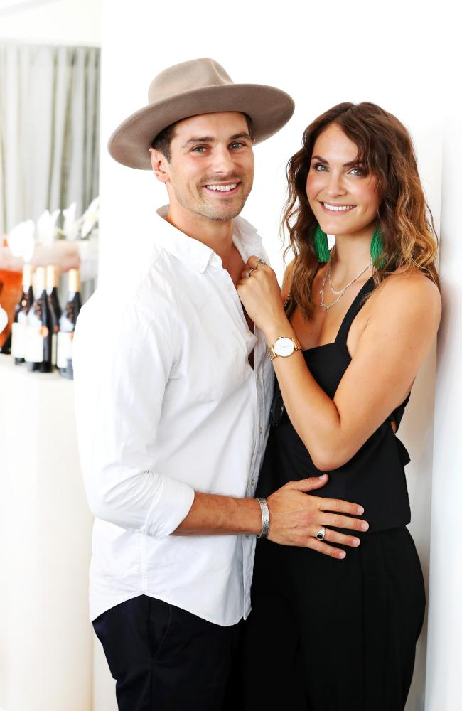 Matty J, with Laura Byrne,  says Bachelor in Paradise would benefit from a later timeslot so less has to be cut out. Picture: Nigel Hallett