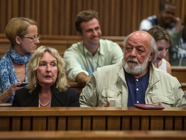 Reeva Steenkamp's parents June and Barry Steenkamp have created a foundation against domestic violence in their daughter's name. Picture: AFP/Ihsaan Haffejee