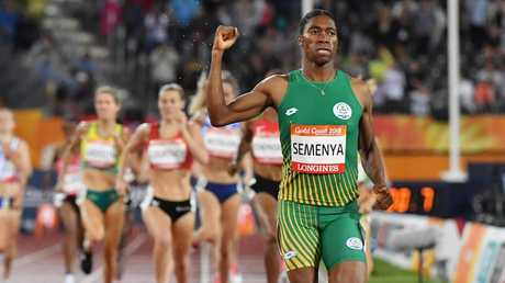 South Africa's Caster Semenya streets the field to win the 1500m on Tuesday night.