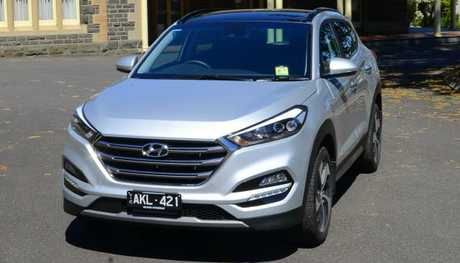 The Hyundai Tucson's lights aren't ideal for country roads. Pic: Supplied.