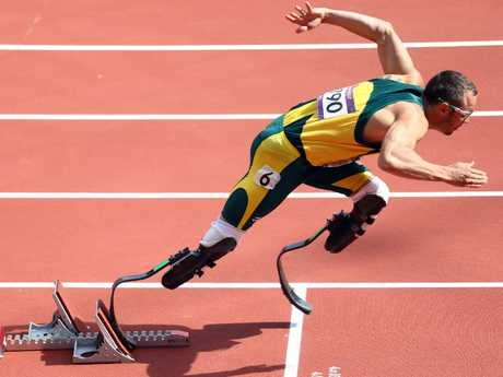 Oscar Pistorius during the 2012 Olympic Games in London. Picture: Paul Gilham/Getty Images