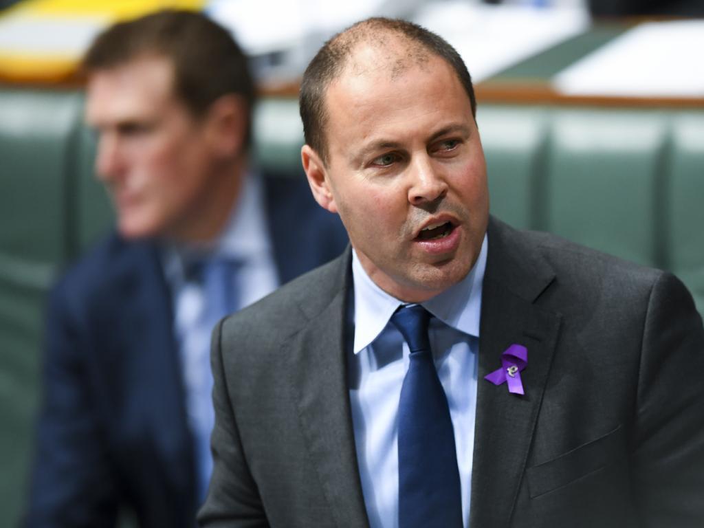 Australian Energy Minister Josh Frydenberg. Picture: Lukas Coch