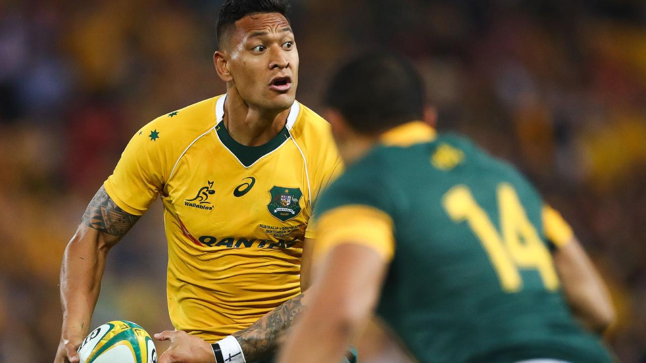 Israel Folau has caused a storm of controversy with his comments on gays.