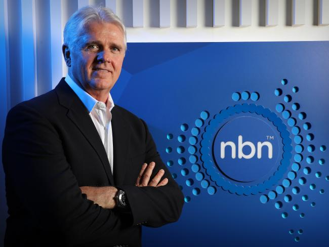 The NBN boss, Bill Morrow, is set to leave the top job before the rollout is complete in 2020. Picture: Chris Pavlich