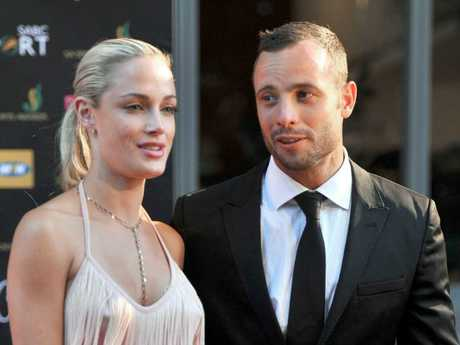 Oscar Pistorius with his girlfriend Reeva Steenkamp in 2012. He was convicted of her 2013 murder. Picture: AFP/Lucky Nxumalo