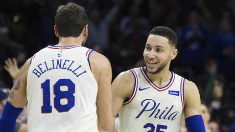 Life is good for Ben Simmons right now.  Picture: Chris Szagola/ap