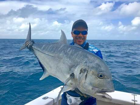 Big trout for anglers close to the islands whitsunday times for Matthews fishing report
