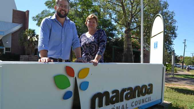 SUPPORT REGIONAL AIRPORTS: Maranoa Regional councillors Cameron O'Neil and Janelle Stanford are pushing for the Federal Government to support regional airports.