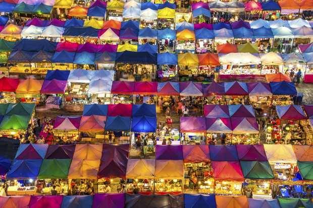 The market in Ratchadapisek, Bangkok.