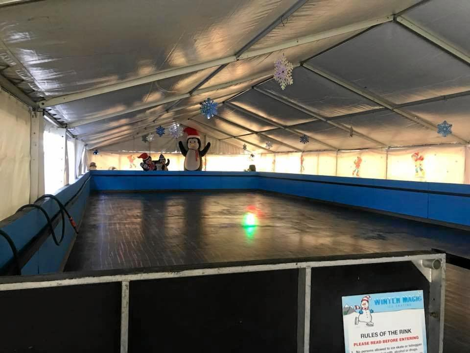 Cherry Street Sports has installed an ice skating rink for the school holidays.