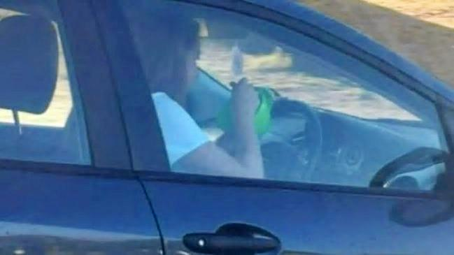 The Perth P-Plater who was fined last week after she too was captured eating cereal while driving.