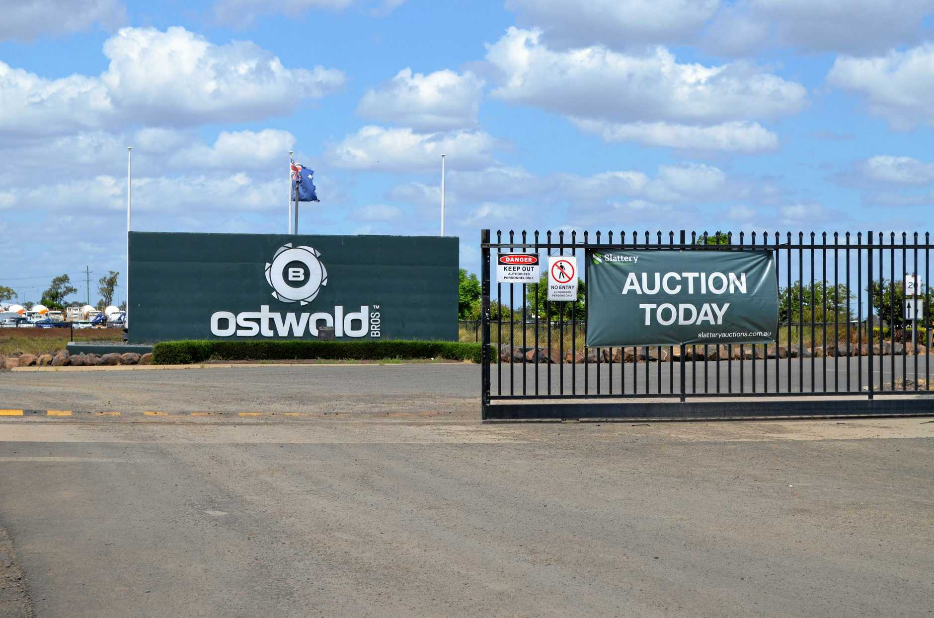 MASS CLEARANCE: Millions of dollars worth of Ostwald Bros. equipment was sold off last month.