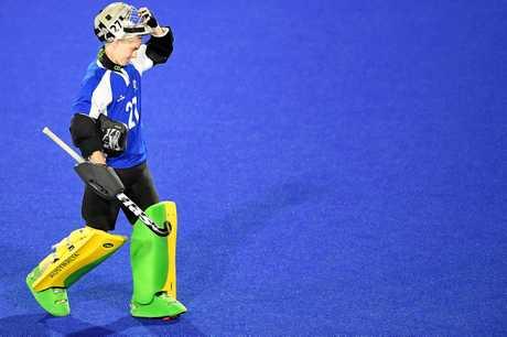 Hockeyroos goalkeeper Rachael Lynch has been in impressive form.