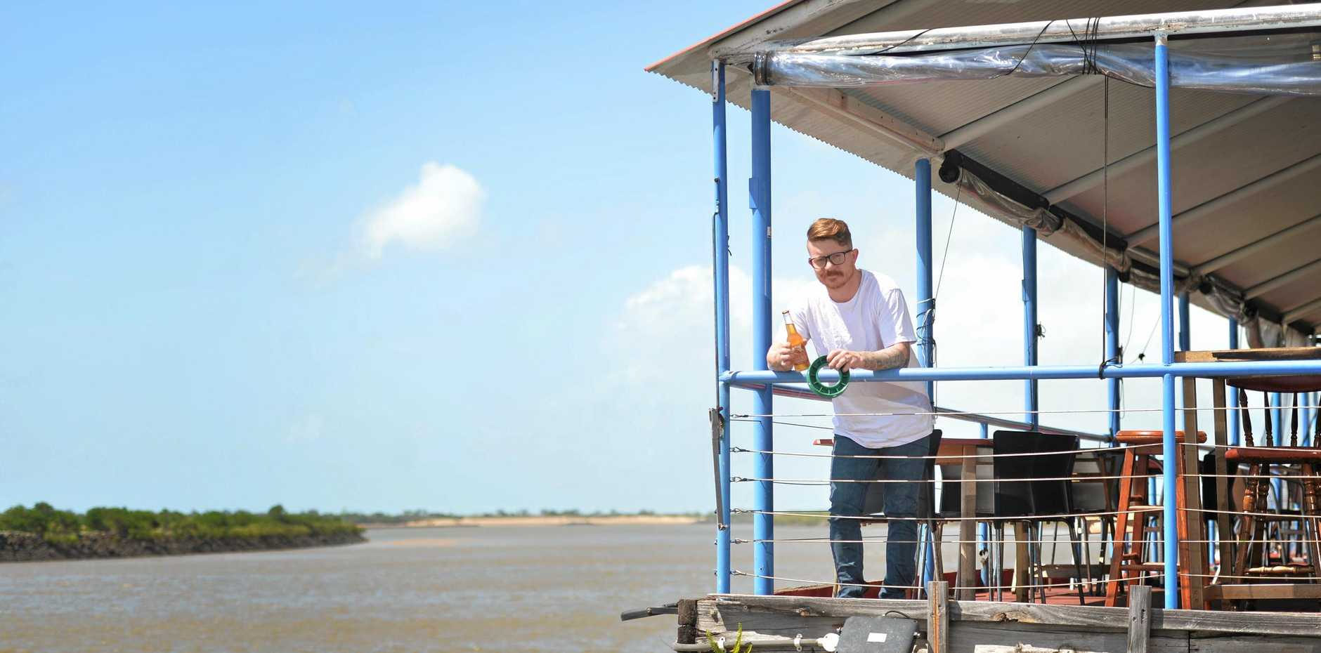 PRIME SPOT: Mackay restaurant Maria's Donkey used to welcome people to fish from their the balcony and new owner Richard Hughes-Harding is hoping to get it started again.