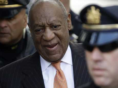 Bill Cosby is at court for a retrial on allegations he drugged and sexually assaulted a woman he met at his former university in outer Philadelphia. Picture: AP Photo/Matt Slocum