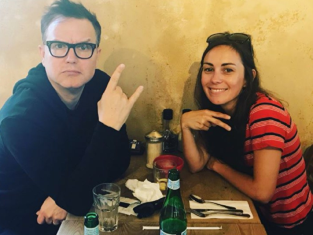 Blink 182's Mark Hoppus has written with Shark for her debut album. Picture: Instagram