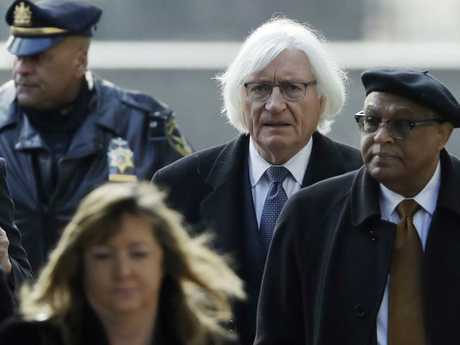 High-profile Hollywood lawyer Tom Mesereau painted a picture of Ms Constand as a woman with financial problems who set out to frame Ms Cosby. Picture: AP Photo/Matt Slocum