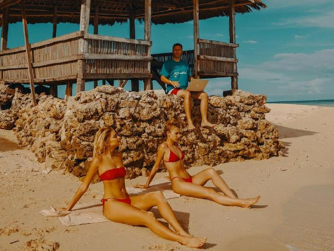 He's often surrounded by beautiful women. Picture: Timothy Sykes