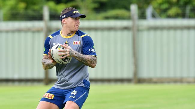 Todd Carney trains with the North Queensland Cowboys. Picture: Shae Beplate.