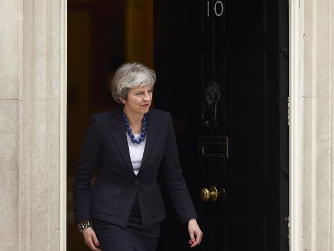 Britain's Prime Minister Theresa May outside  10 Downing Street.