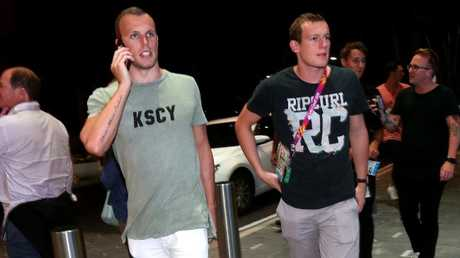 Kyle Chalmers arrives at the Star Hotel in Broadbeach. Picture: Mike Batterham