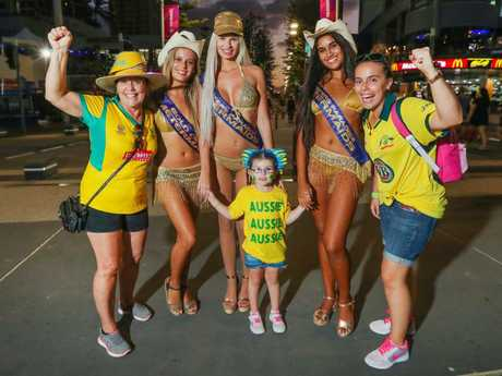Michelle McDonald (right) with her mother Ros and daughter Chloe, 4, with the Meter Maids. Picture: Nigel Hallett