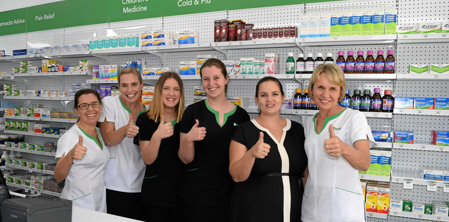 NEW START: TerryWhite Chemmart Emerald team excited about their new business venture.