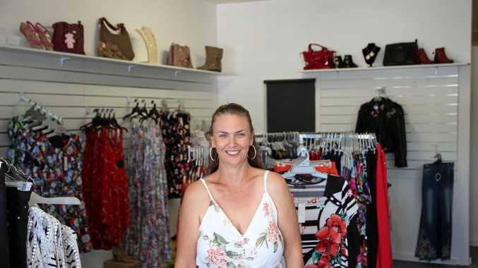 TEMPTING SELECTION: Laura Ross stands in her second fashion store at Plainland Plaza.