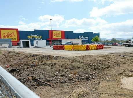 Aldi construction site on Gladstone Road, Rockhampton.