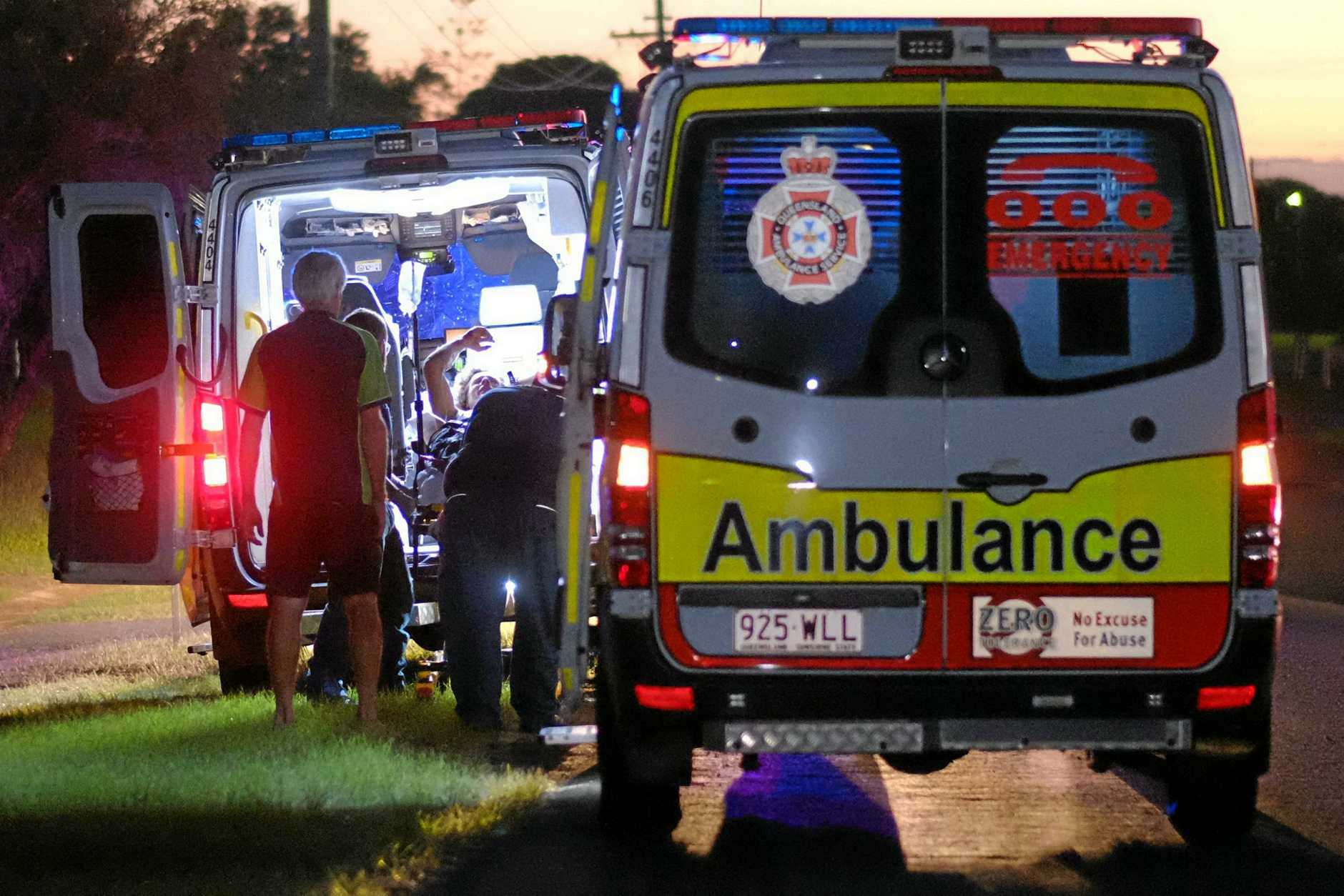 SHOOTING: Two men were taken to hospital after a shooting incident in Burnett Heads on Monday.