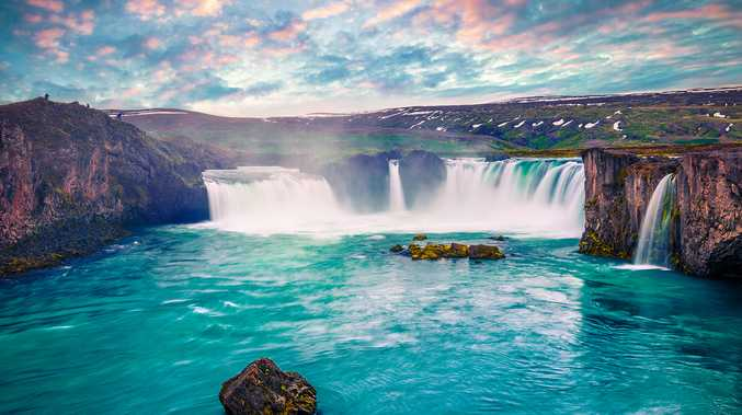 NORTHERN CRUISING: The dramatic waterfalls seen in Iceland