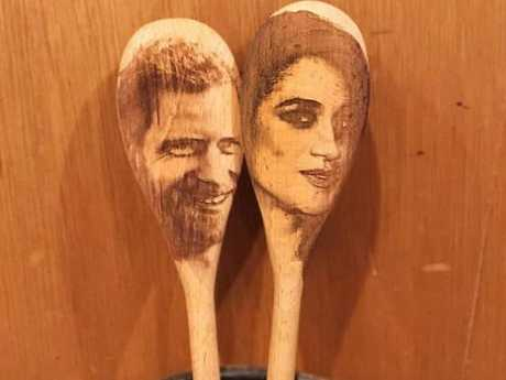 You'll be set back $35 for these two exquisite wooden spoons.