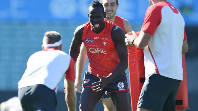 Aliir Aliir at Sydney training.
