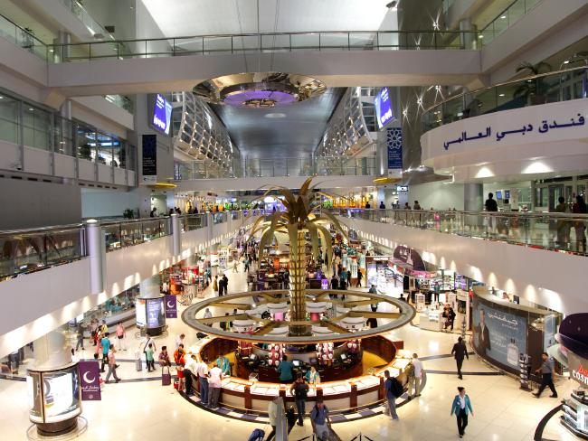 Inside Dubai Airport.