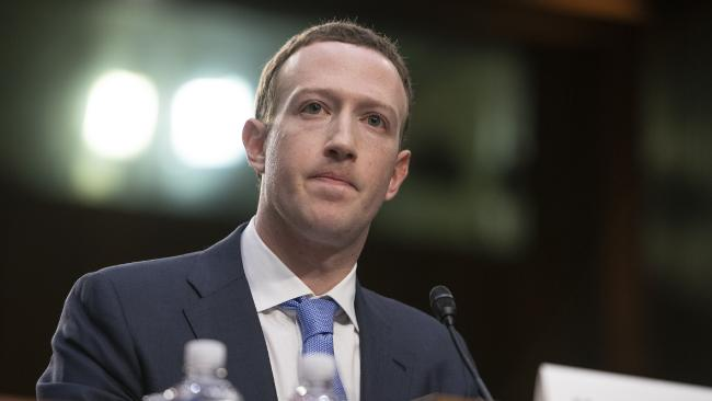 Mark Zuckerberg has a gobsmacking response to one question this morning. Picture: Ron Sachs