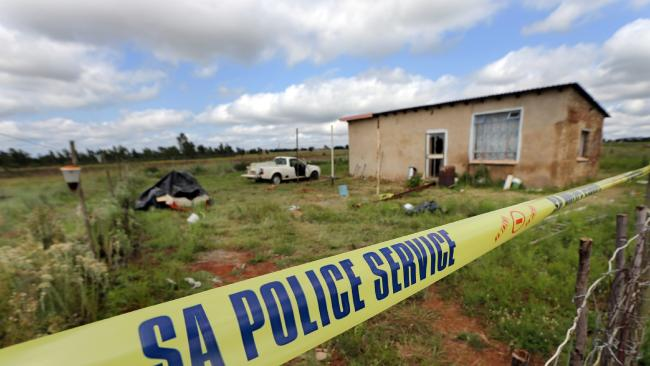 The scene of a home invasion on a small land holding outside of Pretoria, South Africa, in the early hours of Friday 9th February 2018. Picture: Gary Ramage