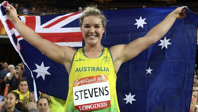 Stevens is aiming to break the 72-metre mark as she targets World Championship and Olympic gold. Picture: AAP Image/Dean Lewins